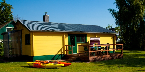 Haus Hanna, Ferienhaus, Kanus, Ferienhaus am Bodden mit Boot