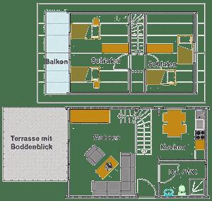 Haus Kranichblick, Grundriss