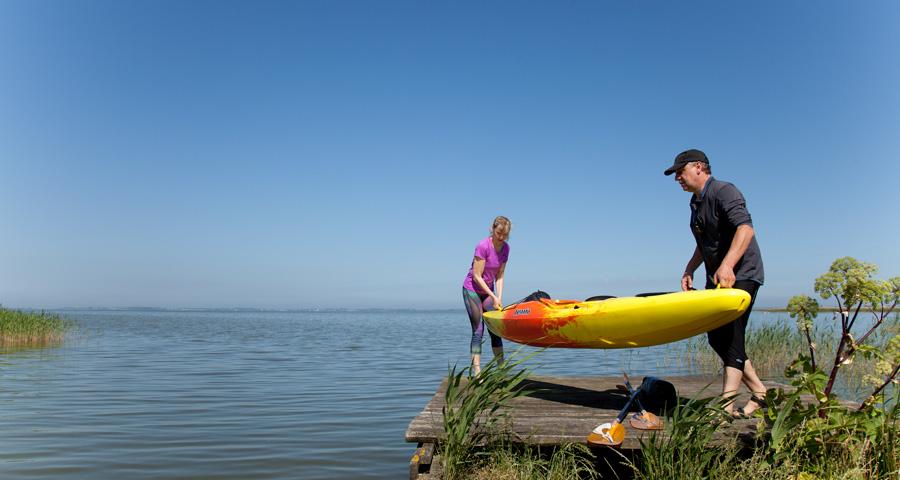 Urlaub mit Kanu, Ferienhäuser Boddenperlen, Saaler Bodden