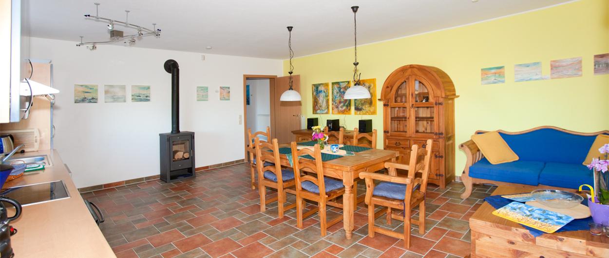 Ferienhaus, Haus Darßblick, Wohnküche, Erdgeschoß