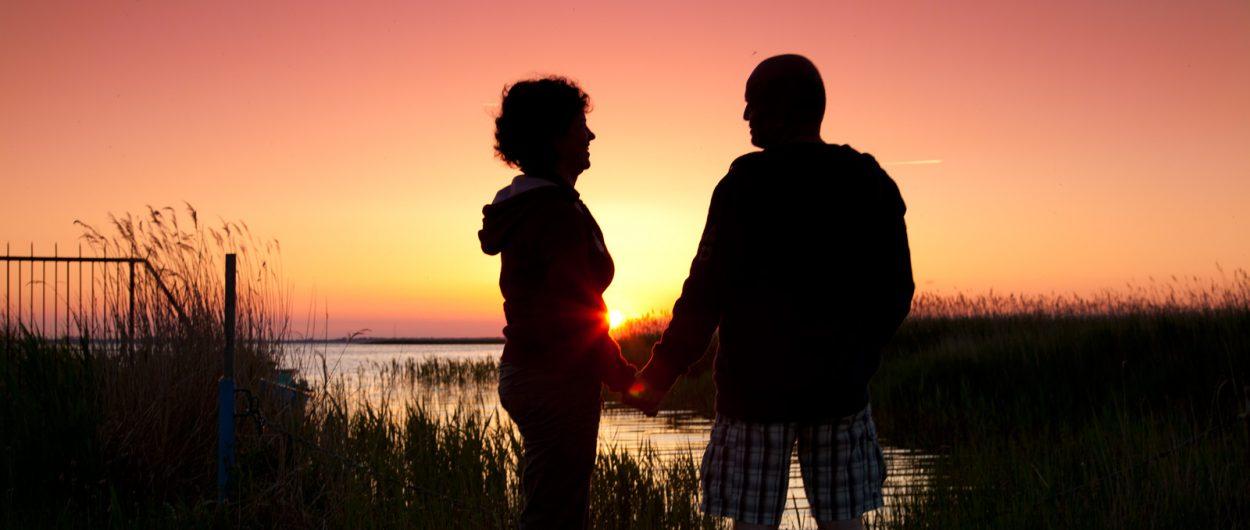 romantischer Abend am Saaler Bodden