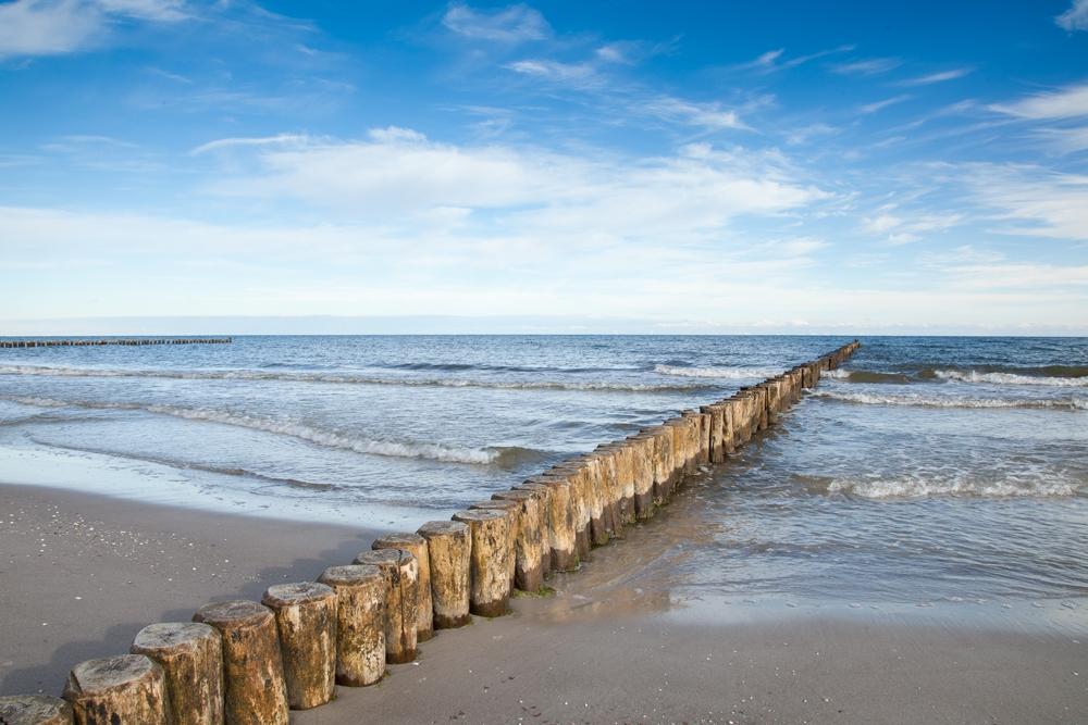 Ostsee, Buhnen, Ferienhäuser Boddenperlen