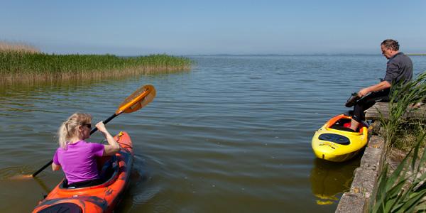 Kanu, paddeln, Saaler Bodden, Service