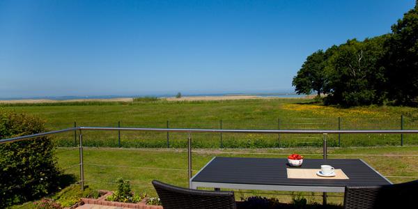 Terrasse, Blick zum Saaler Bodden