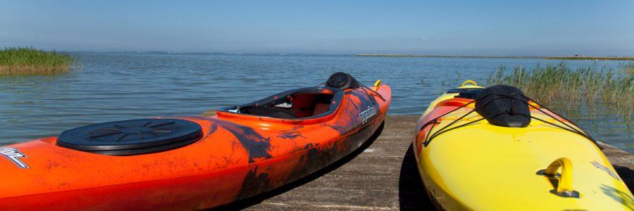 Ferienhaus am Bodden mit Boot